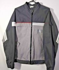 Schindler Mens Jacket Gray Black Flap Pockets Mandarin Collar 100% Cotton XXL