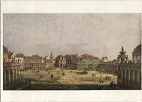 Alte Kunstpostkarte - Dresden - Canaletto - Der Zwingerhof in Dresden