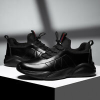 Men's Fashion Leather Casual Shoes Athletic Walking Sports Driving Sneakers Gym