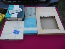 Lot of 5 Vintage Empty Clothing/Apparel Boxes, LaReine, Spruce, Pepperell, Nice