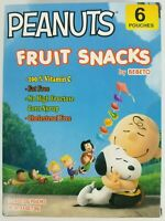 Peanuts Charlie Brown Snoopy Fruit Snacks 6 pouces 4.8 oz Collectible New