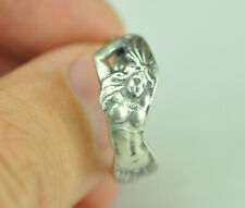 Beautiful 925 Sterling Silver Native Girl Spoon Ring