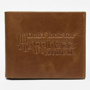 Tan RFID Leather Men's Wallet, 100% Real Leather Wallet for Men, Gift Bagged