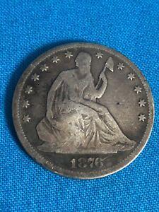 1876 CC Seated Liberty half dollar