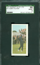 1971 BARRETT & CO # 11 GARY PLAYER RC SGC 8 2nd FINEST GRADED RARE*