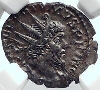 POSTUMUS Authentic Ancient 268AD Genuine GALLIC Empire Roman Coin PAX NGC i81765