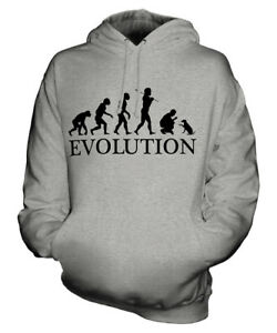 DOG TRAINING EVOLUTION OF MAN UNISEX HOODIE MENS WOMENS LADIES GIFT CLOTHING