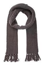 Rogue Men's Mid Weight Dark Grey Multi Knit Wool Fringe Scarf Size O/S NWT $125