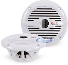 "Boss MR50W 5.25"" 300 Watt 2-Way Marine Boat Speakers Attachable Grille Included!"
