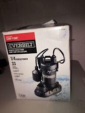 Everbilt 1/4 Hp Aluminum Submersible Sump Pump