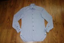 GREAT BARBA NAPOLI SHIRT , CHECK BLUE, SLIM, SIZE 16, EXCELLENT CONDITION