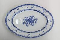 ARABIA OF FINLAND Finn Flower Blue Porcelain Oval Serving Platter 16.5""