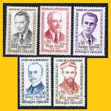 SERIE 5 FRANCE 1960 - HEROS DE LA RESISTANCE - N° 1248 A 1252 - NEUFS **