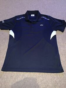 Lacoste Sport Golf Tennis Polo Shirt Blue Size 4