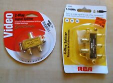 One each RCA 4-WAY Signal Splitter & TriQuest 2-Way Splitter NIP