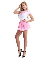 XL Women Japanese School Outfit Sailor Suit Uniform 2pcs Romper Skirt Outfit