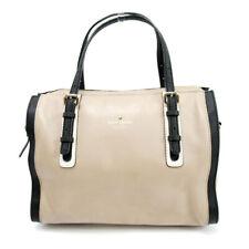 kate spade handbag beige leather  Used Auth C3621