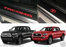 Front & Rear Red Door Sill Vinyl Inserts 2016-2017 Toyota Tacoma New Free Ship