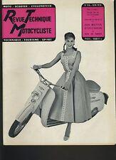 (12A)REVUE TECHNIQUE MOTOCYCLISTE VELAM ISETTA / AJS 350 cc mono