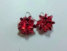 Red Bow Christmas Earrings that Resemble Kate Spade Bourgeois Bow Earrings