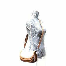 STEVEN ALAN Landon Saddle Bag LINEN LEATHER Purse Tan Crossbody SMALL NWT $295