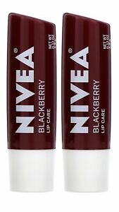 Nivea Tinted Lip Care Blackberry 2 Pack 0.17 oz 4.8g Each New Sealed Fast Desp