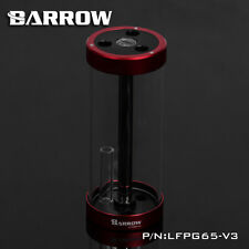 TUBO di Vetro Quarzo Barrow Serbatoio Serbatoio Rosso 170mm x 65mm raffreddamento ad acqua