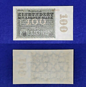Germany 1923, 100 Million Mark UNC P#107f