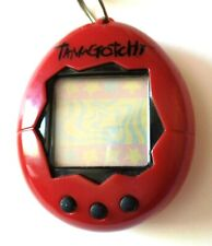 Vintage Tamagothchi 1997 Bandai Red Virtual Reality Pet