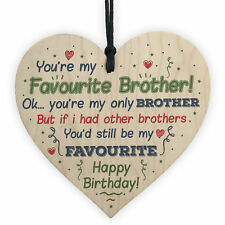 Brother Birthday Gifts For Him Sister Mum Dad Funny Card Baby Family Plaque Gift