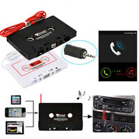 Car Cassette Casette Tape 3.5mm AUX Audio Adapter For MP3 MP4 Player CD Radio