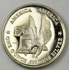Prooflike America Eagle/Liberty Bell with Recessed Obverse - .999 Silver Ounce!