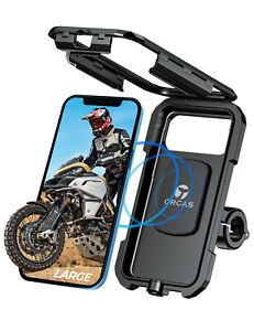Orcas Waterproof Motorbike Phone Holder Charger Qi fast wireless charging UK