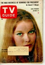 VINTAGE - TV GUIDE OCT3RD 1964 - MIA FARROW OF PEYTON PLACE  - VERY GOOD