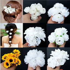 7 styles a set Hair Pins Clips Hair Jewelry Wedding Party Yellow White Flower
