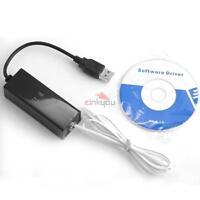 56K USB V9.0 V.92 External Dial Up Voice Fax Data Modem For Win7 Win8 Vista XP