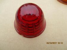 Vintage Red Arrow Glass Bullet Marker Light Len Cover Turn Signal Bee Hive 2nd