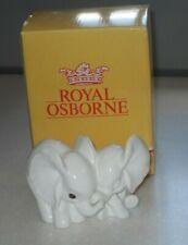 More details for vintage royal osborne bone china elephants figurine 1403 with its original box
