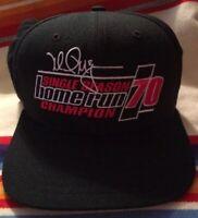 Mark McGwire 70 Home Run Single Season Champion Black Hat ~~ Free Shipping!!! ~~