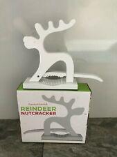 Nuevo Y En Caja Cupcakes & Cartwheels Metal Navidad Reno Cascanueces-Blanco