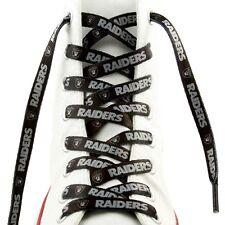 """NFL Oakland Raiders Logo Colors 54"""" Shoe Laces One Pair Lace Ups"""