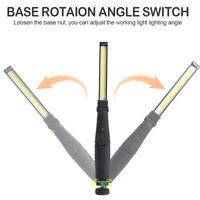 360° Rotation COB LED Work Light Car Garage Mechanic USB Rechargeable Torch Lamp
