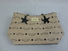 Betsey Johnson Star And Heart Accents Beige In Color Chained Straps