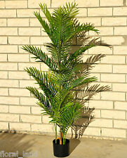 1X ARTIFICIAL 5FT SILK ARECA GREEN PALM TREE FAKE FLOWER PLANT FLOWER 155cm high