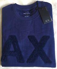 Men's Armani Exchange Crew Neck Long Sleeve Jumper/Sweater Navy Size-Medium