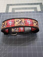 "Omies 2"" Wide Heavyduty Themed ""49ERS"" Football Dog Collar 16""-26"" USA MADE"