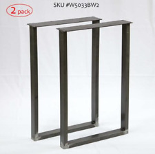 Steel writing desk table leg/base U shape 1 Pair 45cm/18'' wide 71cm/28'' Tubing