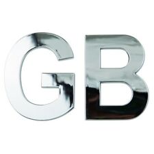 GB Chrome Badge GB Emblem 3D Self Adhesive Badge Classic Great Britain Logo