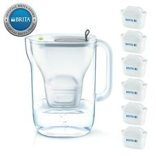 NEW Brita Style Water Filter Jug 2.4L with 6 Maxtra Filter Cartridges Grey