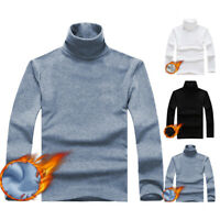 Mens Slim Fit Pullover Tops Long Sleeve Warm Winter Jumper Turtle Neck Sweater